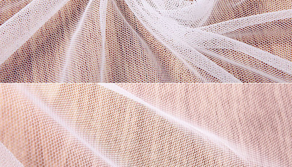 Knitted nylon hexagonal mesh for decoration of Ballet Clothing